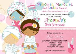 Spa Party Invitations Spa Party Invitations Intended For