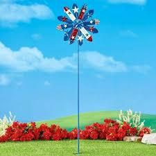 4 ft patriotic americana wind spinner