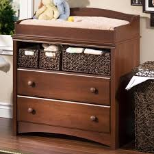baby changing table with drawers royal cherry finish one open shelf space on top wicker pull out baskets wooden drawer knobs nursery furniture solid
