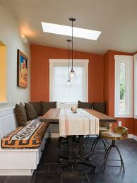 ideas sunset contemporary other small dining room designs functional seating piece wallpaper orang walls houzz pictures