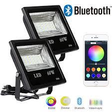 Multi Color Flood Lights Ustellar 2 Pack 15w Rgb Led Flood Lights Outdoor Color