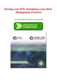 DOWNLOAD PDF] Passing Your ITIL Foundation Exam Best Management Awesome Exambest