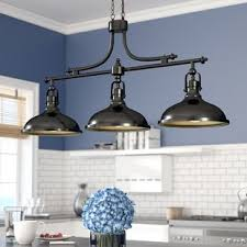 Island lighting fixtures Modern Kitchen Martinique 3light Kitchen Island Pendant Wayfair Kitchen Island Lighting Youll Love Wayfair