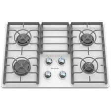 architect series ii 30 in gas on glass gas cooktop in white with