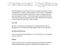 personal hygiene a level psychology marked by teachers com document image preview