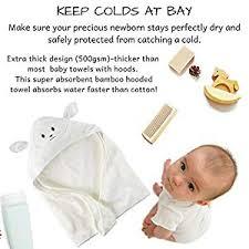 Organic Bamboo Baby Hooded Towel with Bonus Washcloth | Ultra Soft ...