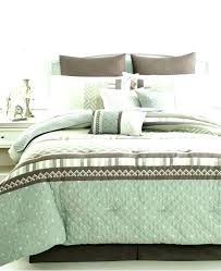 mint green bed set and brown comforter piece king sage within sets ideas blue bedding quilt
