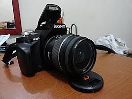 sony dslr. dslr sony alpha a230 dan lensa mulus bening ~ plus uv filter sony dslr