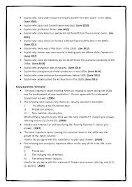 ocr past gcse history exam questions on usa in the s   jan 2010 2