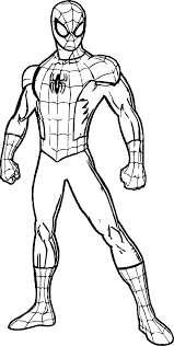 Spiderman Coloring Pages Online Spider Man Colouring Pages Printable