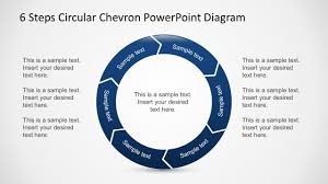 Powerpoint Chevron Template Free 6 Steps Circular Chevron Powerpoint Diagram