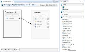 The Views tab of the IBM Worklight Application Framework editor