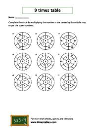 Free 9 Times Table Worksheets At Timestables Com