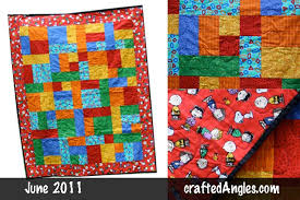 Snoopy and Friends Quilt | craftedAngles & ... in primary colors, which is my favorite baby quilt color schemes.  Following the Yellow Brick Road pattern, I used 6 fat quarters. Adamdwight.com