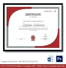 Certificate Of Training Completion Template Training Completion Certificate Pdgroup Co