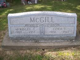 Cora U McGill (Bartlett) (1900 - 1947) - Genealogy