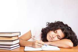 Image result for someone sleeping while doing math