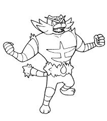 Coloring Pages Pokemon Incineroar Auto Electrical Wiring Diagram