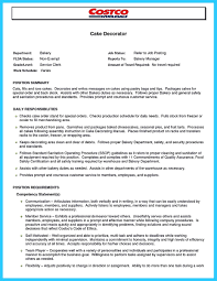 Cake Decorator Job Description Resume Imaginative Illustration