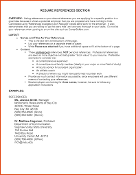 Resume References Moa Format