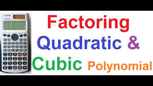 How To Factor A Cubic How To Factor Quadratic And Cubic Polynomials On Casio Fx 991es
