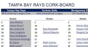 Our Organizational Depth Chart Has Been Updated Rays Index