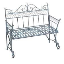 victorian metal outdoor garden bench