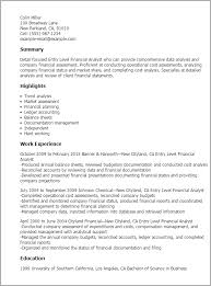 Example Of Entry Level Resume Interesting Entry Level Financial Analyst Resume Template Best Design Tips