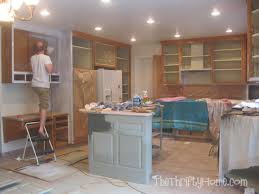 Paint Inside Kitchen Cabinets Inspiration The Thrifty Home Kitchen Remodel Painting Cabinets