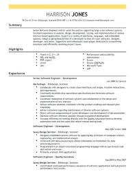 Software Engineering Resume Example Software Engineer Intern Resume Sample Cv Template Word