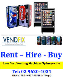 Vending Machine Rental Cost New Low Cost Vending Machines Sydney Metro Regions AustraliaWide
