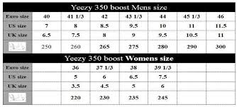 Adidas Yeezy Size Guide