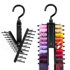 ipow 2 pack black tie rack cross x hangers belt holder space saving closet organizer for men w 360 degree rotated hooks com