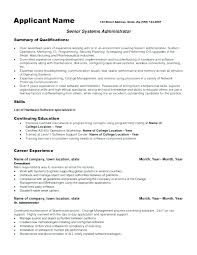 System Admin Resumes Network Administrator Resume Template Infekt Me