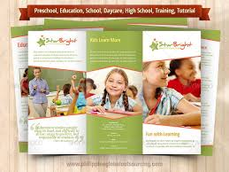 tri fold school brochure template a4 trifold brochure template psd 6 variations 2 by