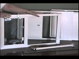 vertical window pet door information