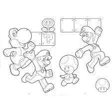 スーパーマリオ B5 キャラクター ぬりえbrucke