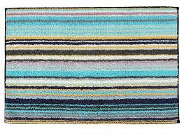 home jazel blue striped bath rug bathroom rugs bathroom striped rug bathroom ideas