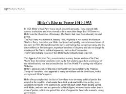 adolf hitler rise to power essay why did hitler rise to power essay on hitlers rise
