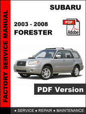 subaru forester manual subaru forester 2003 2008 factory service repair shop manual wiring diagram