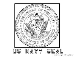 Us Navy Seal Coloring Page Us Navy Navy Insignia Navy Ships