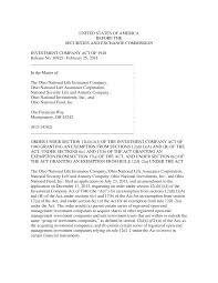 Sponsored demutualization of ohio national mutual holdings, inc. 2