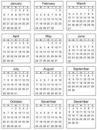 Mini Calendar Sticker Standard 2019 Unpackaged