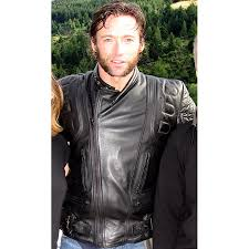moto leather jacket mens. hugh jackman wolverine x-men motorcycle black leather jacket moto mens