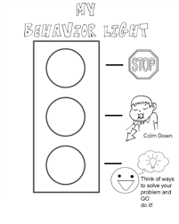 Behavior Stop Light Coloring Page I Created For My Kiddos When You