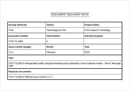 Delivery Docket Enchanting 48 Sample Delivery Note Templates PDF DOC Excel Sample Templates