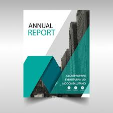 best annual report cover design green annual report cover template vector free