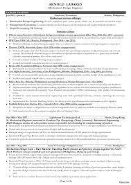 Resume Samples For Design Engineers Mechanical Domestic Engineer