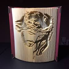 w crown of thorns cut and fold book by rebecca s book art