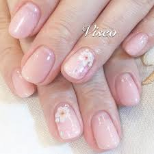 上品な桜ネイル 恵比寿広尾プライベートネイルサロンviseo